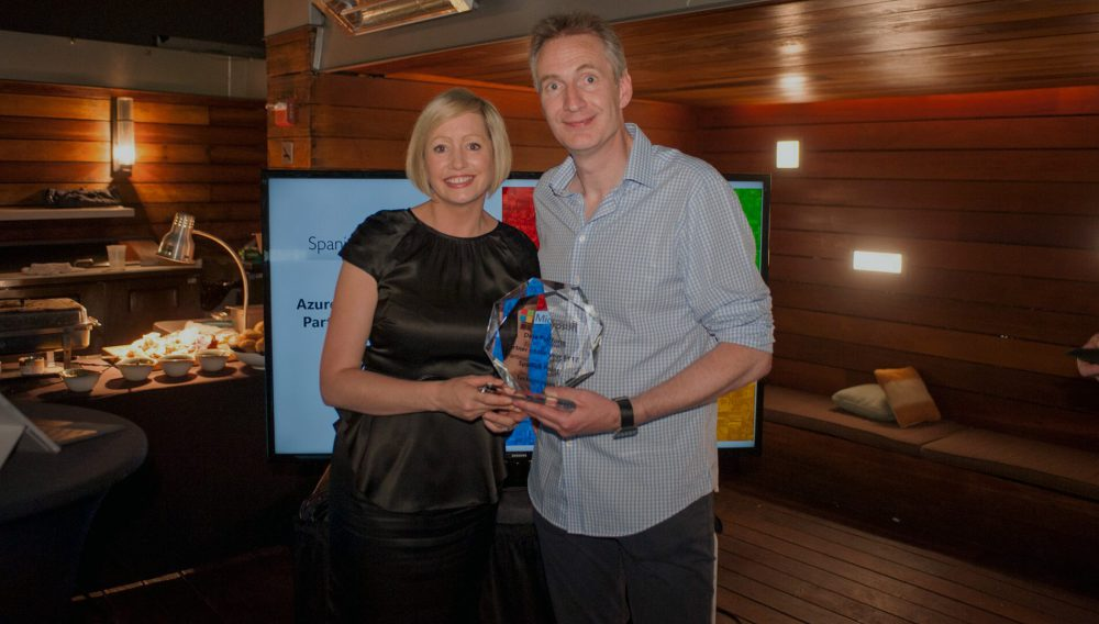 Spanish Point awarded with the Microsoft Azure Data Platform Partner of the year 2017 in Ireland.