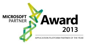 Microsoft Application Platform Partner of the Year 2013